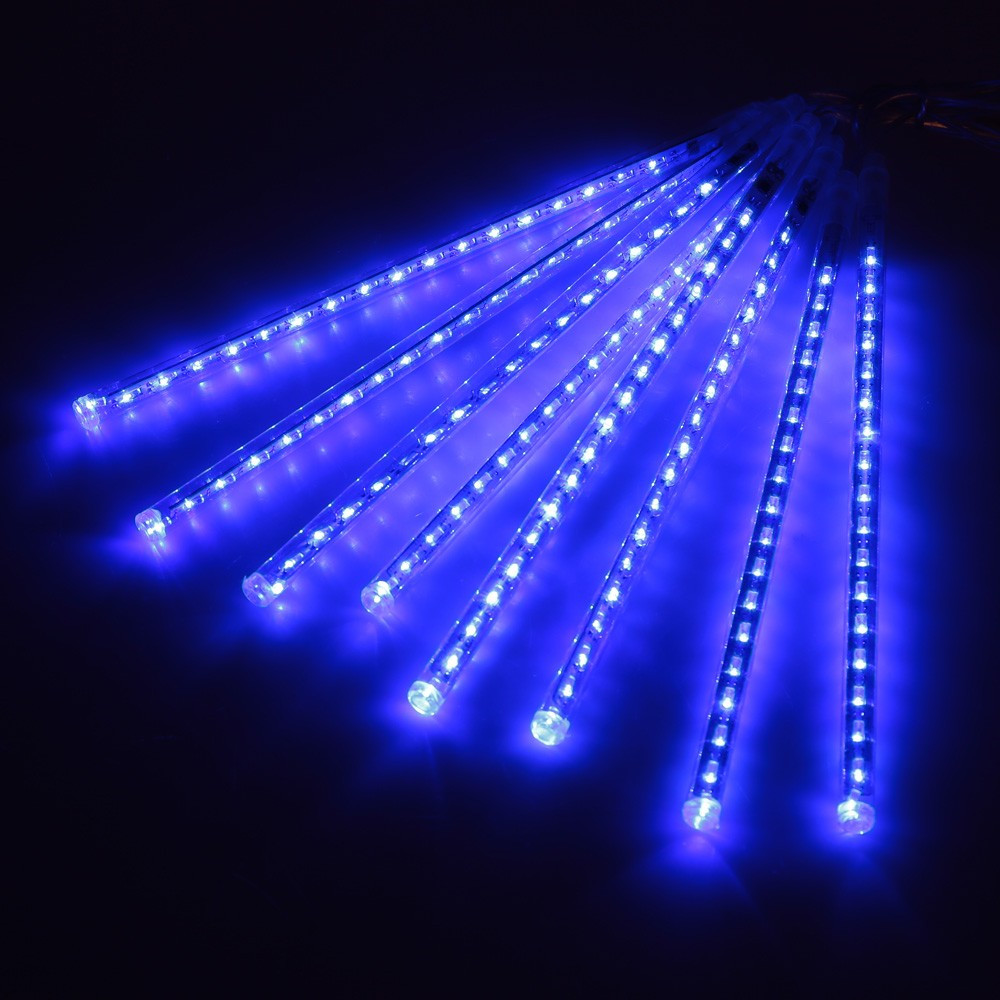 Bleu Meteor Shower Rain LED Guirlande Lumineuse 8 Tubes 30 cm des chutes De Neige Bande Fée Romantique Festival Du Nouvel An Garde Arbre décorations