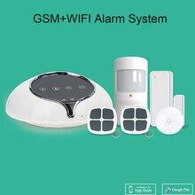 WIFI GSM Dual Network Alarm System Wireless 433Mhz Android IOS APP Control PIR Motion Detector Door Open Sensor Burglar Alarm