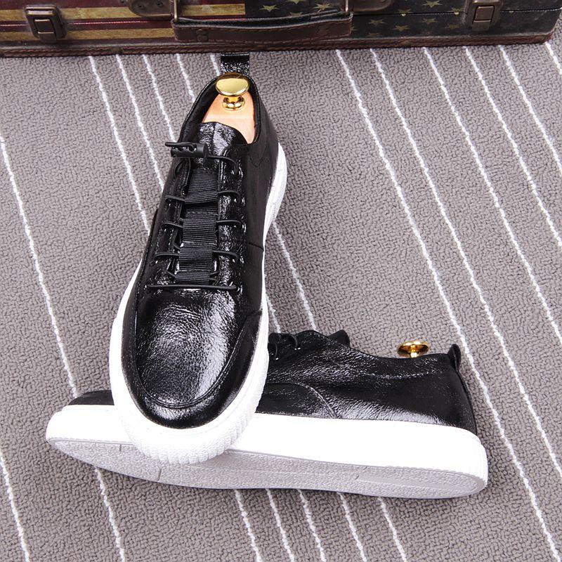 CUDDLYIIPANDA 2018 Fashion Casual Shoes Men Shoes Classic Elastic Band Men Loafers Flats Shoes Hot Sale Zapatos Men Sneakers