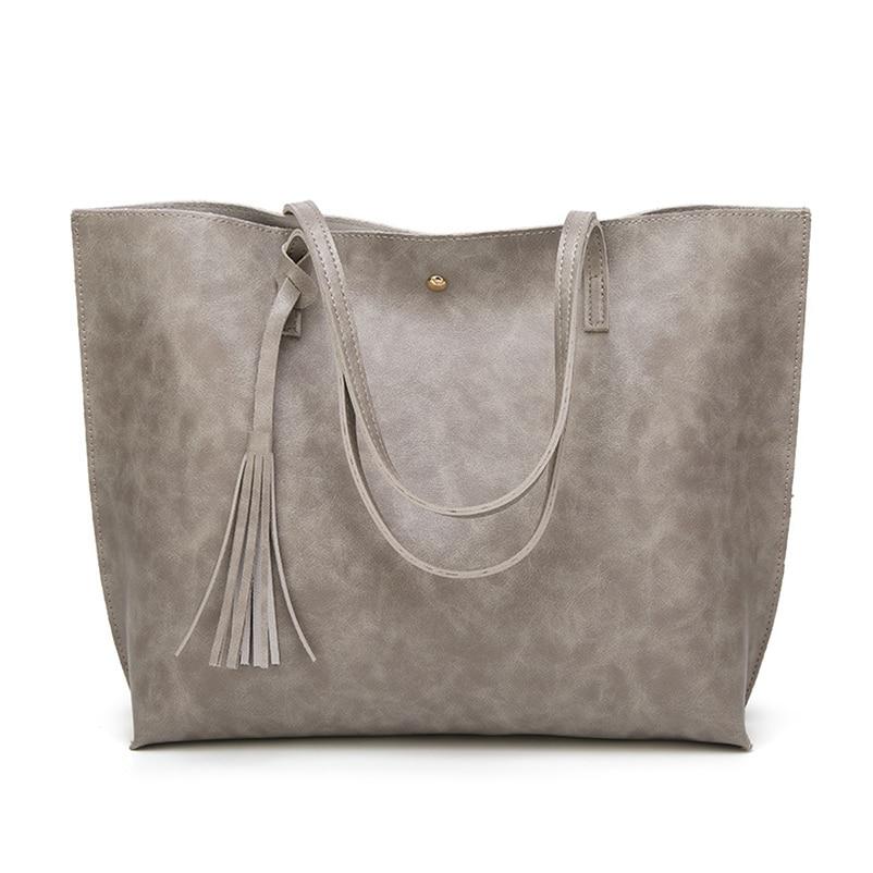 Nevenka Leather Handbag Women Casual Totes Female Shopper Ladies Shopping Bags Large Capacity Bags Vintage Bag for Women 201813