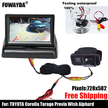 Автомобильное зеркало заднего вида SONY с чипом CCD для Toyota Vios Corolla Tarago Previa Wish Alphard с направляющей линией