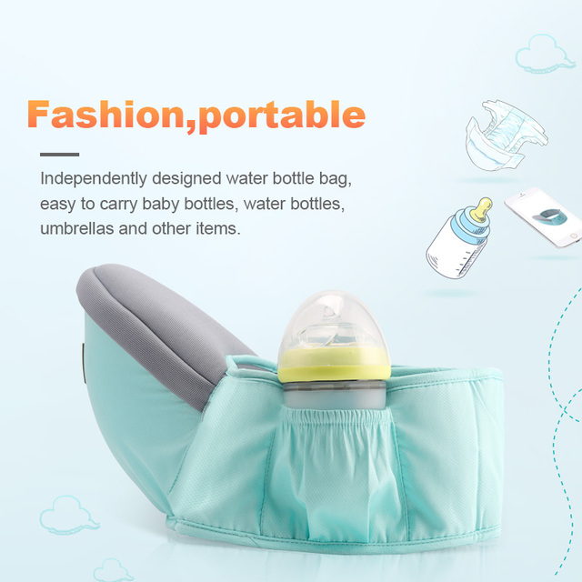 Adjustable Baby Sling and Baby career Hip Seat for Infant