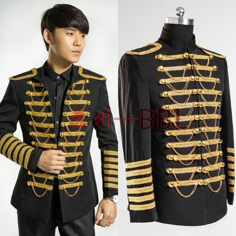 2016 New Men Clothes Men Costume Singer Dancer Royal Stand