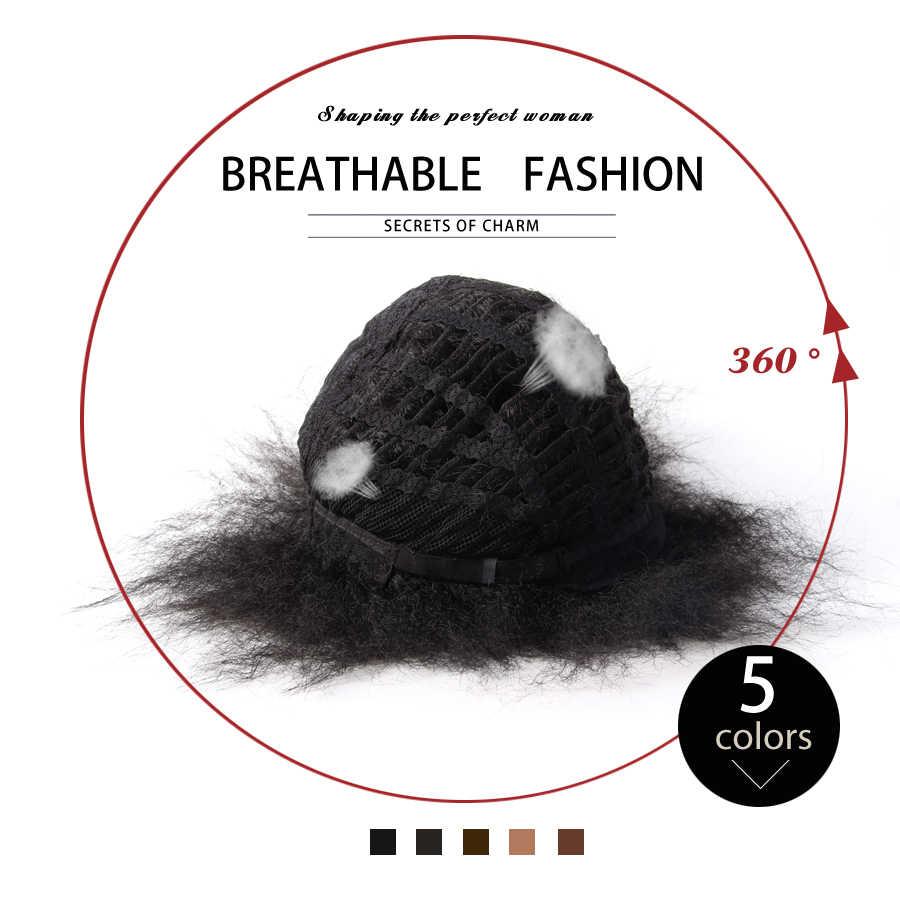 Продукция alileader пышные коричневые черные натуральные Короткие афро кудрявые прямые парики для черных женщин, 6 дюймов Синтетические волосы парик Pruiken