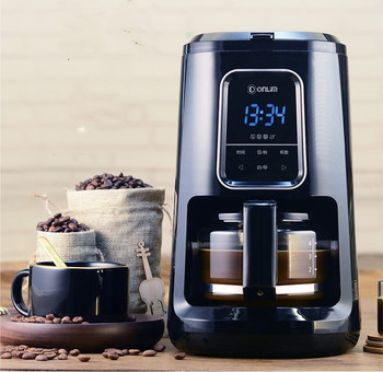 220V Dolin Fully automatic grinding coffee machine home office small American mini one drip pot insulation health raising pot is fully automatic and thickened glass