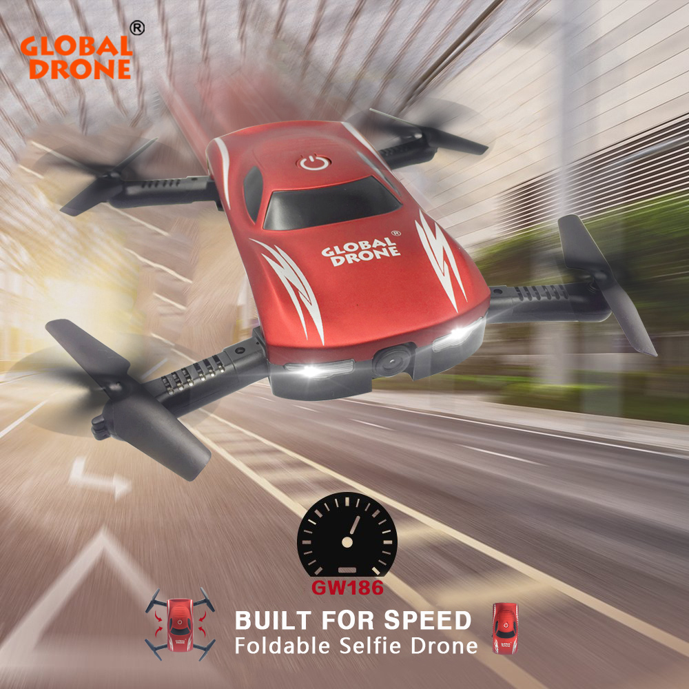 MONDIALE DRONE GW186 Mini Selfie Poche Drone Hélicoptère Maintien D'altitude FPV Pliable Drone avec Caméra HD VS JY018 H37