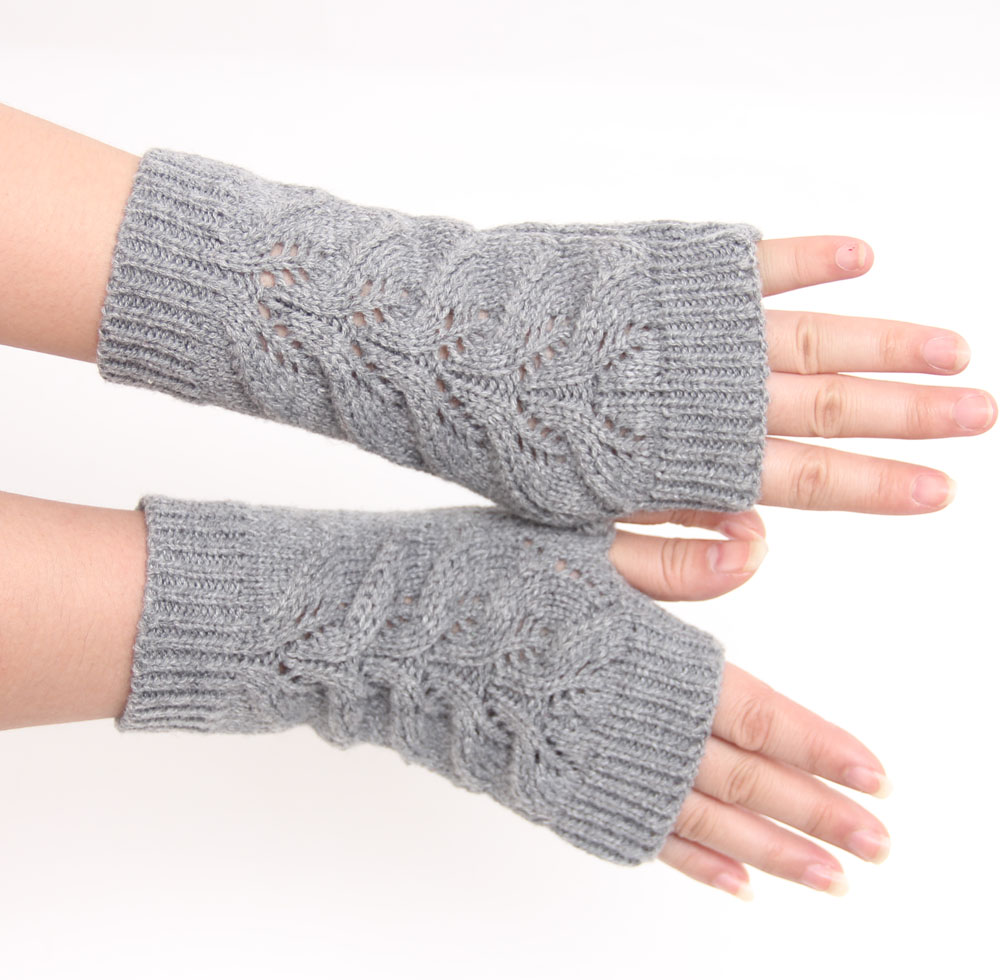 Compra ganchillo guantes sin dedos online al por mayor de