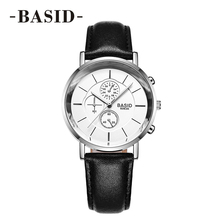 Top Luxury Brand BASID Sport Watches Women Lover Couple Leat