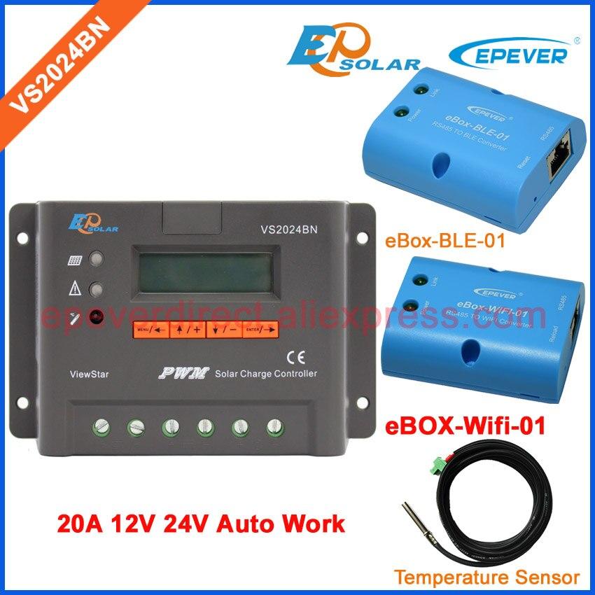PWM ViewStar series solar controller VS2024BN temperature sensor wifi and BLE BOX EPEVER Solar charging controller 20A электрический накопительный водонагреватель thermex hit h10 o