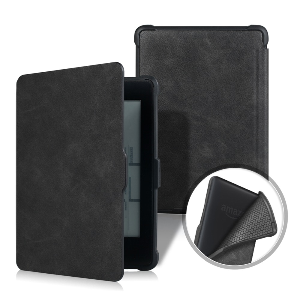 For Amazon Kindle Paperwhite 1/2/3 Case, VTRONHYE Soft TPU Back Auto Wake up eReader Case for Kindle Paperwhite 6 Capa+Film+Pen fashion new hot cover for amazon kindle paperwhite 1 2 3 ebook ereader leather case 6 inch for kindle paperwhite stylus film