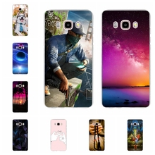 For Samsung Galaxy J5 2016 Case Soft TPU J510 J510F Cover Trees Patterned Coque