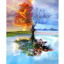 100% Full DIY 5D Diamond Painting Seasons Tree Cross Stitch Embroidery Patterns rhinestones Mosaic