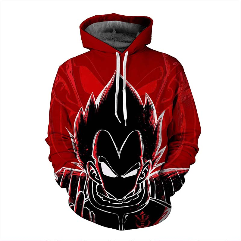 2017 new fashion Cool sweatshirt Hoodies Men women 3D print red black gas Dragon Ball hot Style Streetwear Long sleeve cloth
