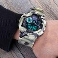 Шок мужская Люкс Аналоговый Кварцевые Цифровые Часы Мужчины G Стиль Водонепроницаемый Спорт Военная Часы 2016 Новый Бренд САНДА Мода часы