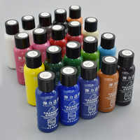 30ML 20 Colors DIY Leather Edge Paint Oil Dye Highlights Professional Paint Leather Craft Liquid Art Supplies