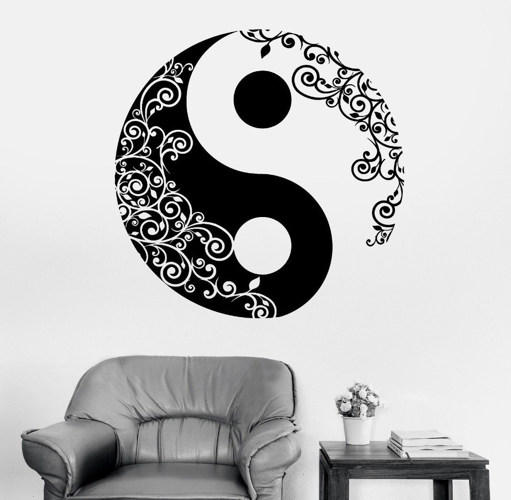 Pinturas Murais Big Mandala Vinylová nálepka na jógu Menhdi Lotus Velký vzor Ornament Om Indická nástěnná malba Domácí výzdoba