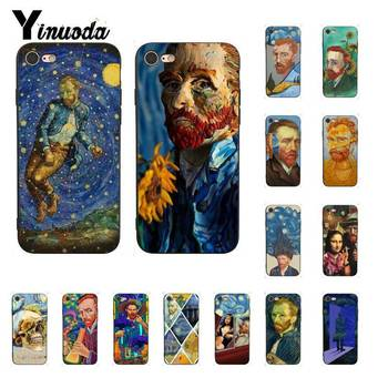 Yinuoda Van gogh Trippy drole art Coque Shell Phone Case for iPhone 8 7 6 6S Plus X XS MAX 5 5S SE XR 11 11pro 11promax Cover image