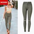 2016 pantalones vaqueros de cintura alta mujer de american apparel jeans rasgados para las mujeres perfume 212 womens jeans femme sobretudo feminino mujer