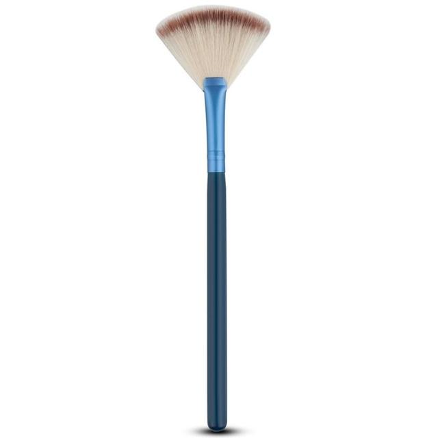 Cosmetic Tools Accessories Fan Shape Makeup Brush Highlighter Face Powder Brush 1 Pcs For Face Make Up 4