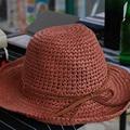 Pesca Sombreros de Paja Para Las Mujeres Floppy Verano Casual Diseño de Papel de Punto Visera Sunhat Vacaciones Necesidad 2016031409 u4
