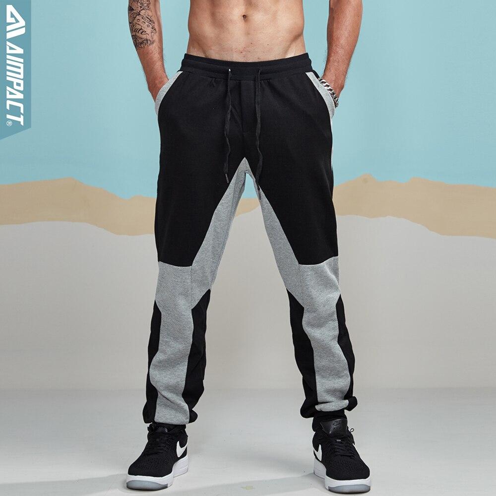 Aimpact 2017 New Autumn Men Cotton Casual Sweatpants Elastic Waist Lengthened Section Sweatpants Men Occident Retro