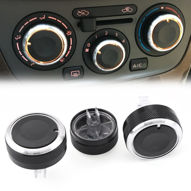 Car AC Knob Air Conditioning Heat Control Switch Knob For Nissan Tiida NV200 Livina Geniss Car Styling