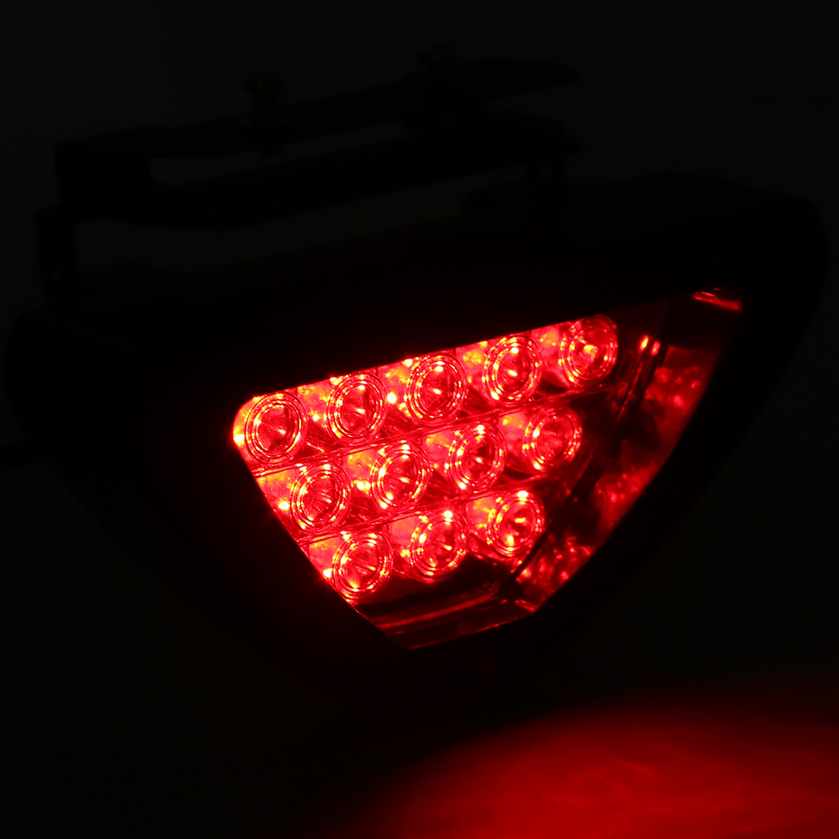 Image 3 - For Car Truck Brake Lights Universal F1 Style 12 LED Red Rear Tail Third Brake Stop Light Safety Signal Lamp-in Signal Lamp from Automobiles & Motorcycles