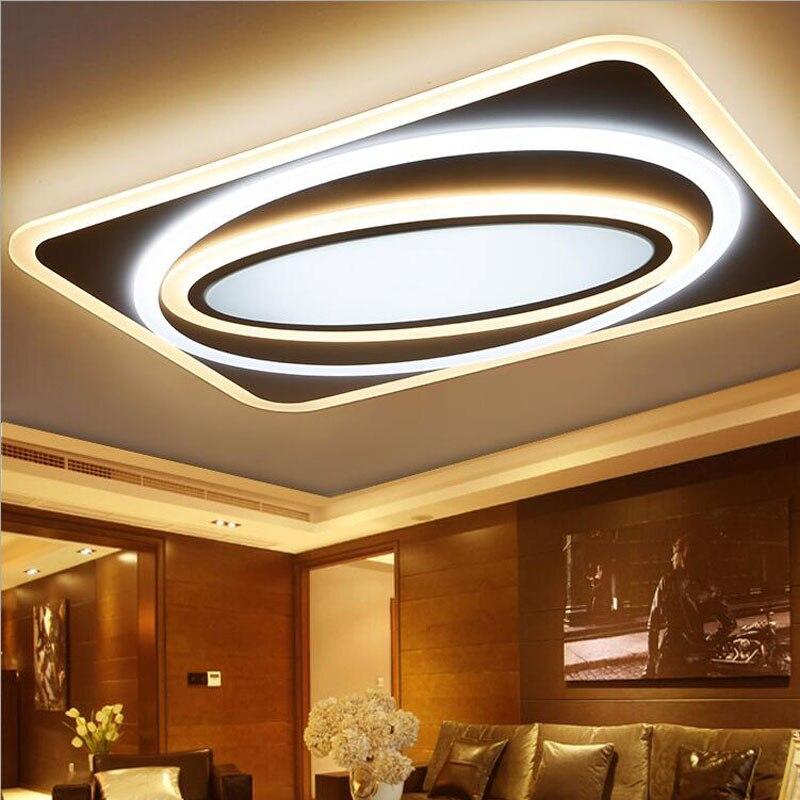 Mince 1.2-mètre led plafond lampe rectangulaire salon lampe simple art chambre lampe creative moderne restaurant luminaire