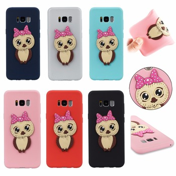 50pcs/lot Free Shipping!! Cartoon Owl TPU silicone case  for Samsung Galaxy S8