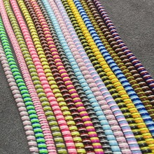 1 5M Cable protector Bobbin winder Data Line Case Rope Protection Spring twine For Iphone5 6