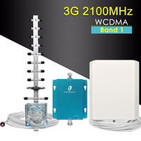 62dB Band 1 3G Repeater 2100MHz Mobile Phone Signal Booster WCDMA 2100MHz 3G Cellular Amplifier Signal Booster 3G Repeater Kit