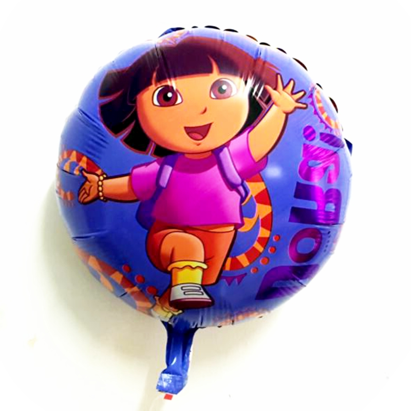 18 inch Cartoon Dora girl traveler Balloons theme kids Birthday Party Wedding decoration aluminium foil balloon Toys supplies