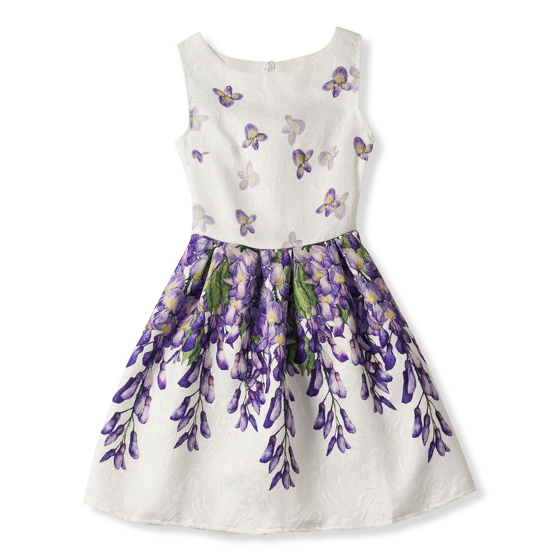 b28fee2fcb9 Children Clothing Girl Sundress Summer Dress For Girl Party Clothes Tiny  Floral Print Kids Dresses For Girl Teenager School Wear-in Dresses from  Mother ...
