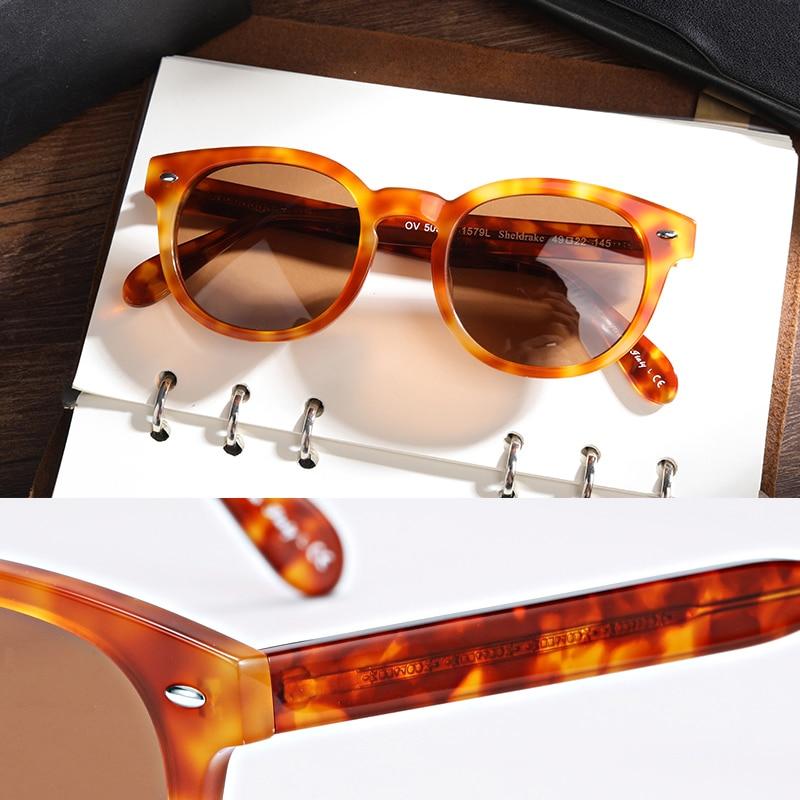 Vintage round sunglasses men women brand design sunglasses ov5036 sheildrake top quality polarized lens