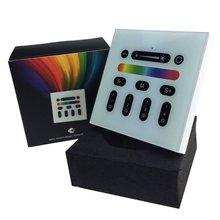 2.4G 4-Zone RF WIFI RGBW LLEVÓ La Pared Interruptor controlador de panel Táctil compatible con todo mi serie de luz rgbw rgbww led bombillas