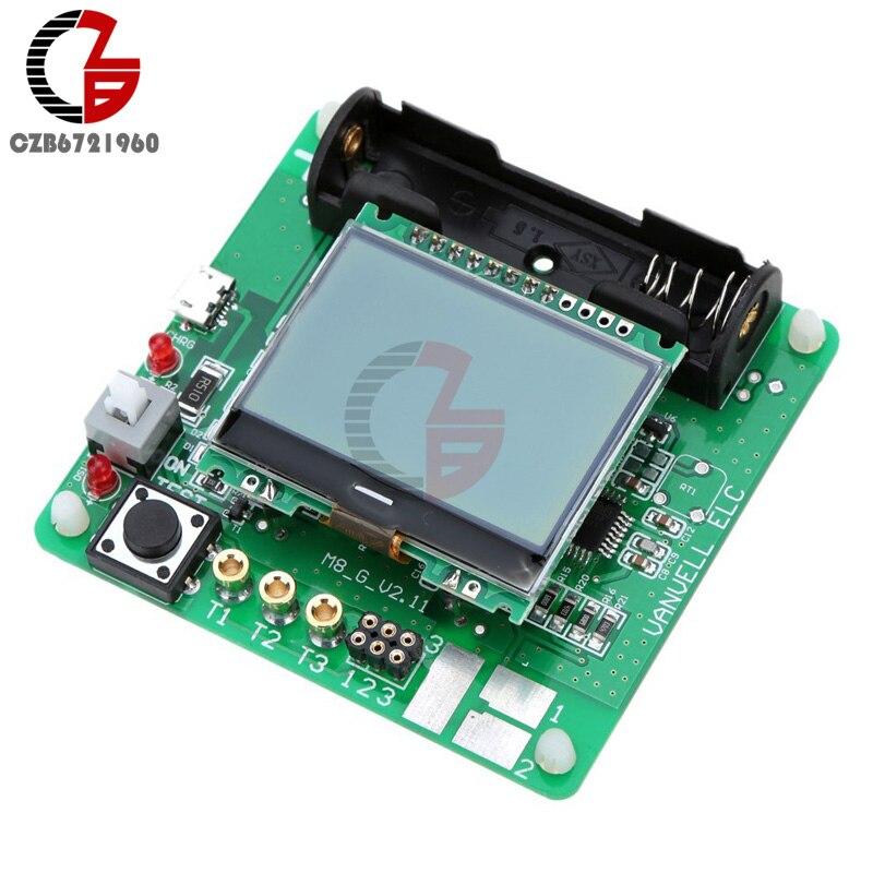 12864 LCD Affichage ATmega328 Transistor Testeur de Diodes Triode Capacité ESR Mètre/MOS/PNP/NPN M328 Multifonction Compteur