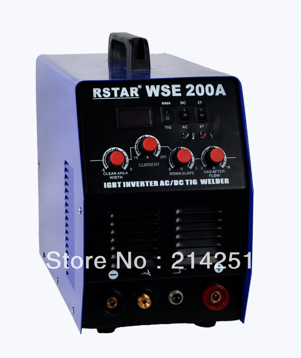 WSE-200 INVERTER IGBT technology AC/DC TIG welder and ARC welding machine free shipping image