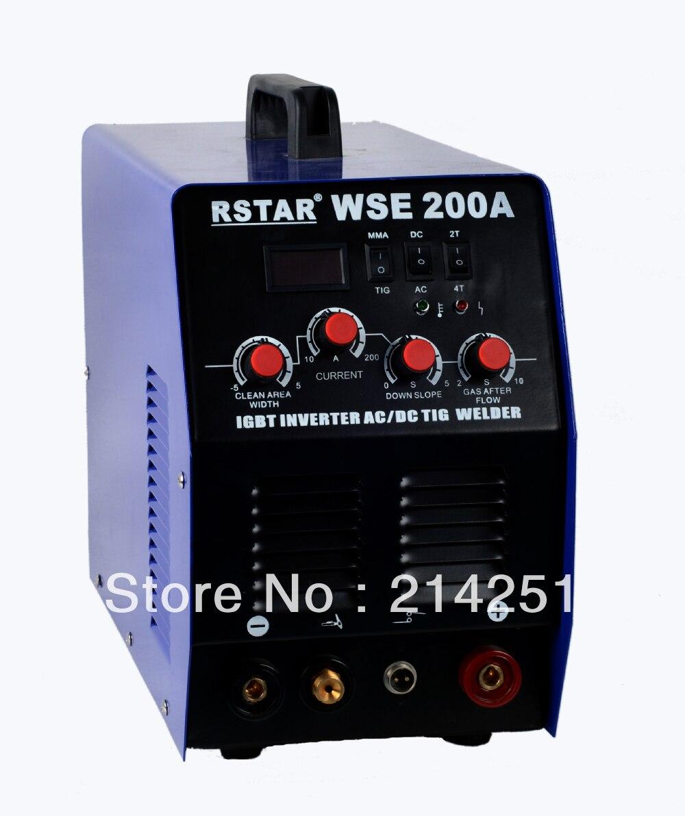 WSE-200 inwerter IGBT technologii AC/spawarka TIG DC i maszyna do spawania łukowego darmowa wysyłka