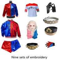 Escuadrón de suicidio Harley Quinn monstruo T camisa 2016 Harley Quinn Cosplay traje de las mujeres