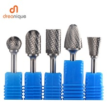 All types 1 pcs tungsten carbide rotary burrs 6mm shank Metal Diamond Grinding Woodworking Milling Cutters bits