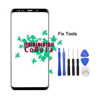 1Pcs Genuine Original For Samsung Galaxy S9 G960 S9 Plus G965 Front Glass Touch Screen LCD
