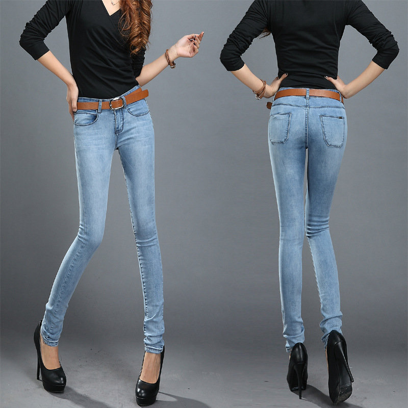 Aliexpress.com : Buy New Elastic Autumn Slim Jeans Women Famous