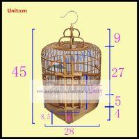 1Set Old bamboo thrush bird cage 28,33,36CM starling scorpion thrush bird cage bamboo bird cage