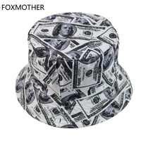 Foxdame nouveau modèle de Dollar Chapeau Femme pêcheur Chapeau hommes seau chapeaux Casquette extérieure
