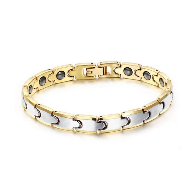 Cool Tungsten Bracelet Men Health Care Black Magnet Bracelets & Bangles Gift Plated Gold Bracelets for Women Men Jewelry 1 pcs women lucky red string bracelets men jewelry 100% handmade bangles boho style girls gift