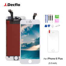 For iPhone 6 Plus LCD Display Touch Screen Digitizer Assembly Replacement For Apple 6 Plus with Tempered Glass+Tools Grade New new arrvial hotsale lcd display touch glass digitizer assembly 4 7inch screen with frame replacement for apple iphone 6