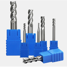 1Pcs HRC 45° Tungsten Steel Flat Milling Cutter 3 Flute End Mills Spiral Router Bit CNC Steel Alloy End Mill 4/5/6 / 10mm Shank 5pcs set straight shank end mill cutter 4 flute hss drill bit 4 6 8 10 12mm for cnc milling tool