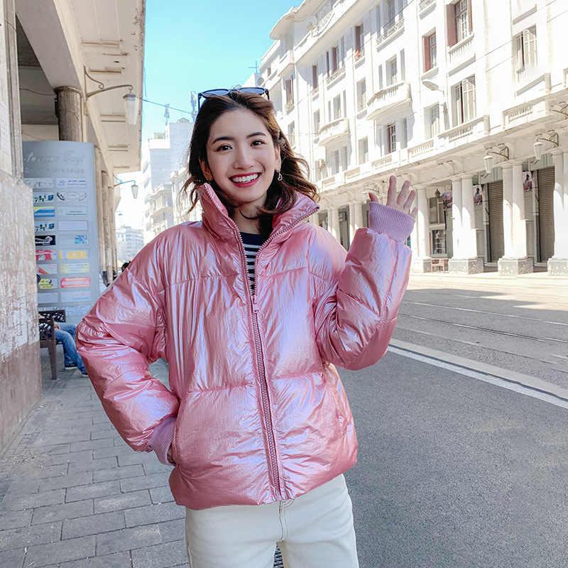 2019 Winter Glänzend Unten Parka frauen Jacken Winter Warme Outdoor Oberbekleidung Blau Dicken Parka Frauen Winter Ski Jacke