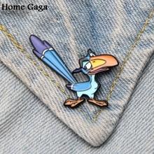 Homegaga Король Лев Hornbill 90s цинковый галстук мультфильм забавные булавки броши для рюкзака, одежды для мужчин и женщин Декоративные значки медали D1864
