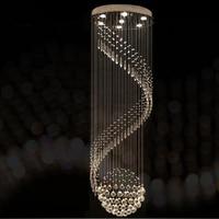Lustre de cristal moderno para design espiral led lâmpada de cristal de luxo pendurado interior escada lâmpada do corredor|Lustres|Luzes e Iluminação -